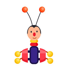Child xylophone in form of beetle vector