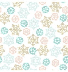Christmas winter seamless pattern with color vector