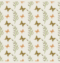 Cute butterflies seamless pattern vector