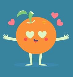 Cute orange crazy in love vector