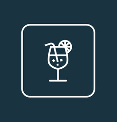 drink outline symbol premium quality isolated vector image vector image