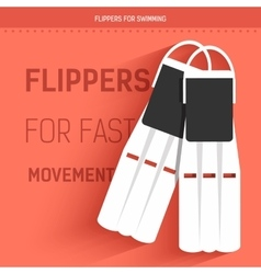 Flippers for fast movement under water vector