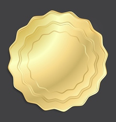 gold medal that can be used as a seal the price vector image vector image