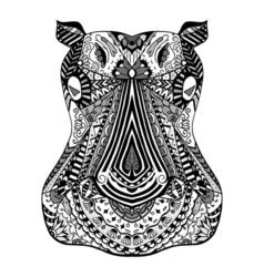 Hippo zentangle stylized vector