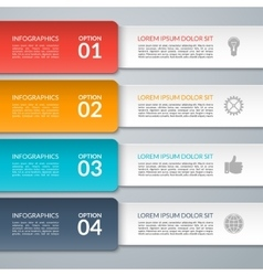 infographic design template Paper strips vector image vector image