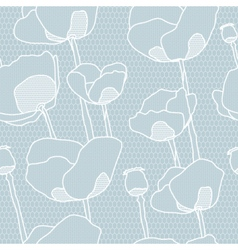 Lace flower seamless pattern vector image vector image
