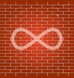 Limitless symbol whitish vector