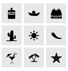 Mexico icon set vector