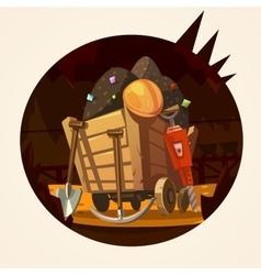 Mining cartoon vector