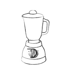 Monochrome sketch of kitchen blender vector
