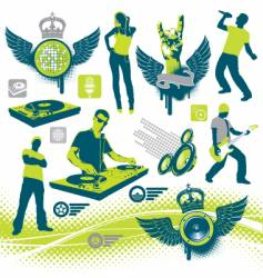 musical collection vector image vector image