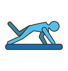 Pictogram man practicing pilates sport vector