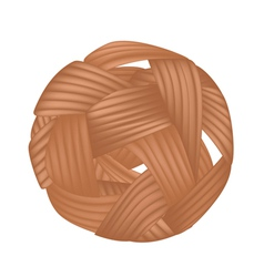 Rattan Ball or Takraw on White Background vector image