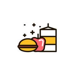 School lunch box vector