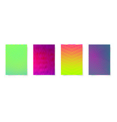 set of four abstract geometric pattern a4 format vector image vector image