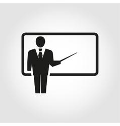 Training and presentation seminar vector