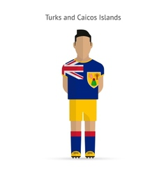 Turks and caicos islands football player soccer vector