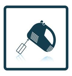 Kitchen hand mixer icon vector