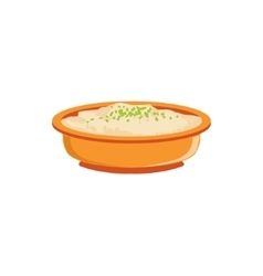 Rice Pudding In Bowl Supplemental Baby Food vector image