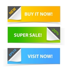 Colorful set of promotional sale banners vector