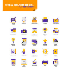 Modern material flat design icons - web and vector