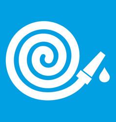 Garden hose icon white vector