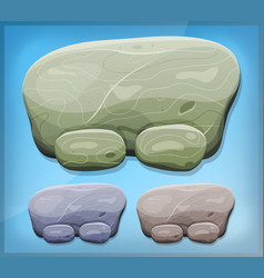 Cartoon stone sign for ui game vector