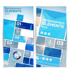 business infographic vertical banners vector image