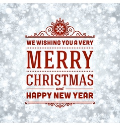 Merry Christmas message and light background vector image