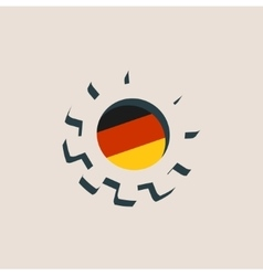 3d cog wheel with germany flag vector