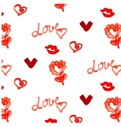 Romantic watercolor pattern vector