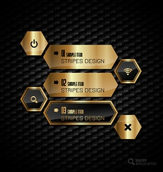 Golden hexagons vector