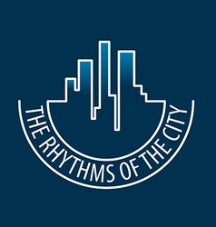 logo rhythms of the city at night vector image
