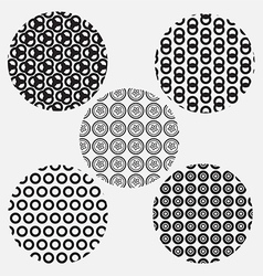 Black and white circle style pattern vector