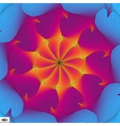 Torsion and rotation movement art mosaic 3d vector