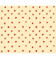 Hearts dots seamless pattern simple decoration vector
