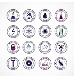 Protection proof round stamps vector