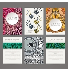 Set of design templates brochures in vector