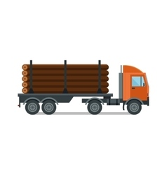 Timber wood truck isolated vector