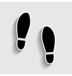 Imprint soles shoes sign vector