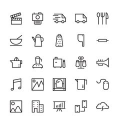 Web and User Interface Outline Icons 4 vector image