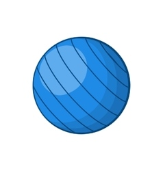 Blue volleyball ball icon cartoon style vector