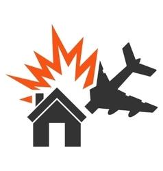 Aircraft house collision icon vector