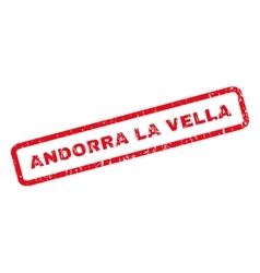 Andorra La Vella Rubber Stamp vector image