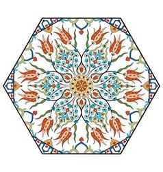 Antique ottoman turkish pattern design eighty vector