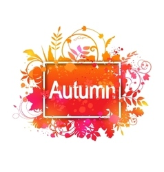 Autumn Grunge Banner vector image vector image