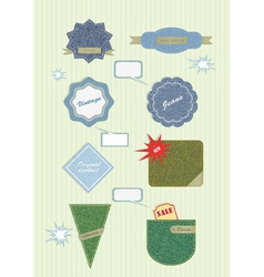 badges and labels vector image vector image