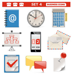 Business Icons Set 4 vector image