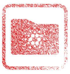 Cardano folder framed stamp vector