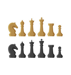 chess pieces game concept vector image